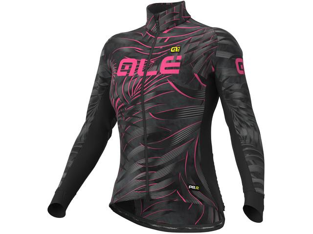 Alé Cycling Graphics PRR Sunset Maillot Manga Larga Mujer, black-fluo pink
